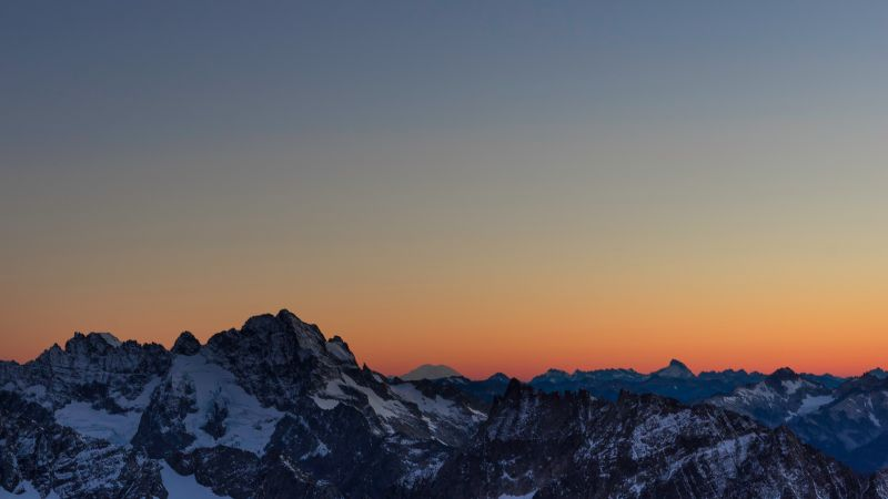 Mountains, Sahale Glacier Campground, North Cascades National Park, Wilderness, Dawn, Sunset, Dusk, Washington, Wallpaper