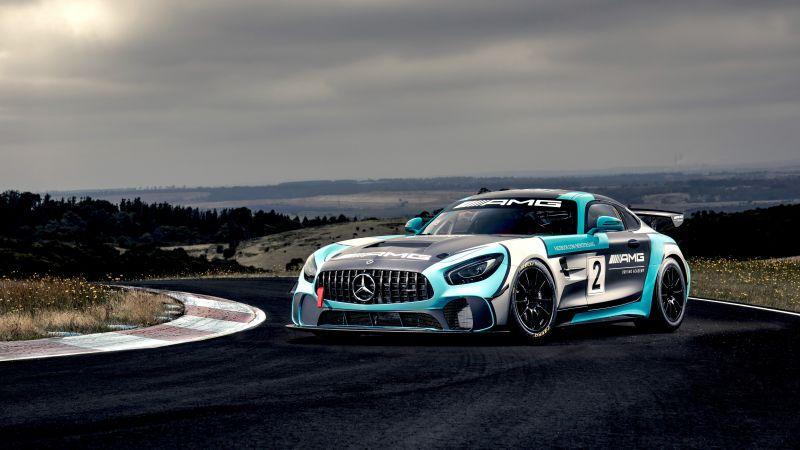 Mercedes-AMG GT4, 5K, 8K, Wallpaper