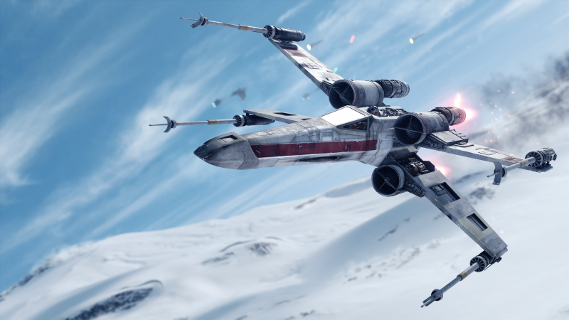 X-wing Starfighter, Star Wars Battlefront, Spacecraft, Wallpaper