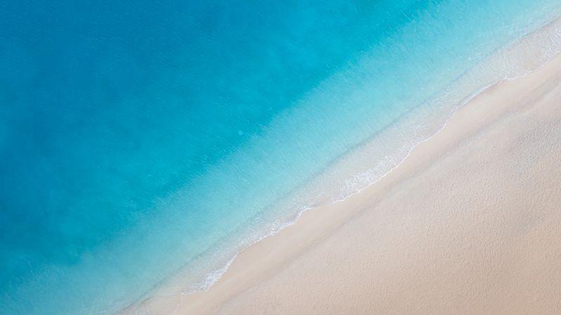 Beach, Aerial view, Ocean, Stock, Wallpaper