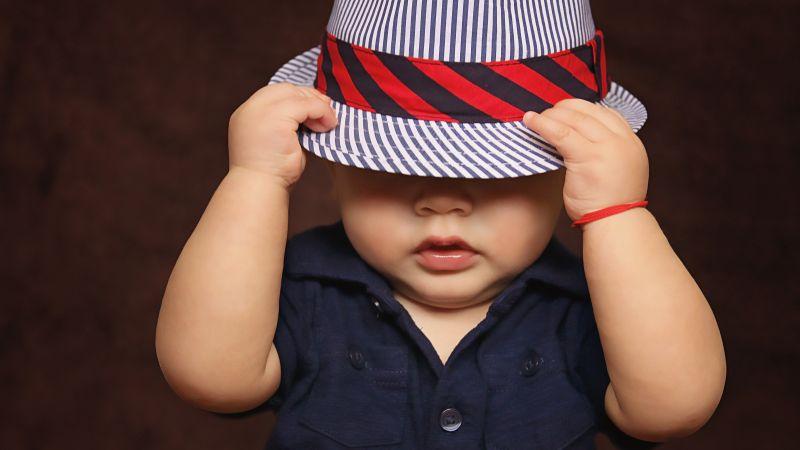 Cute boy, Cute kid, Hat, Toddler, Adorable, 5K, Wallpaper