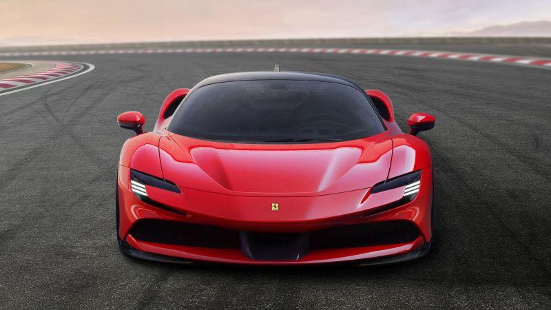 Ferrari SF90 Stradale, Sports cars, 5K, Wallpaper