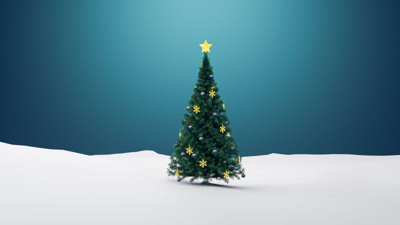 Christmas tree, Christmas decoration, Xmas background, Wallpaper
