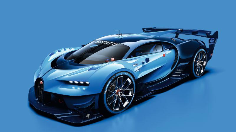 Bugatti Vision Gran Turismo, Concept cars, Wallpaper