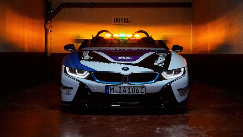 BMW i8 Roadster, Formula E Safety Car, Wallpaper