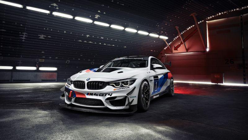 BMW M4 GT4, Racing cars, Wallpaper