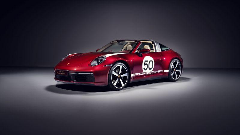 Porsche 911 Targa 4S, Heritage Edition, 2020, 5K, Wallpaper