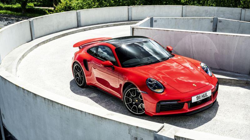 Porsche 911 Turbo S, 2020, 5K, Wallpaper