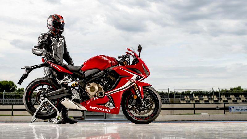 Honda CBR650R, Biker, Racer, Wallpaper