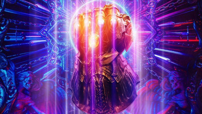 Infinity Gauntlet, Thanos, Marvel Comics, Infinity Stones, Wallpaper