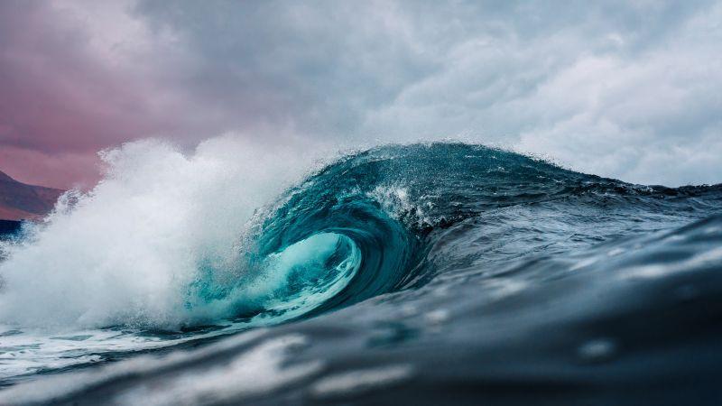 Ocean, Waves, Water, High tides, 5K, Wallpaper