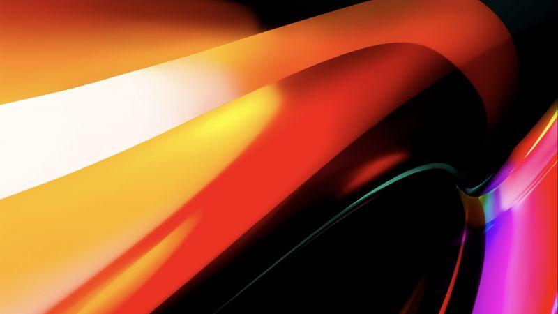 MacBook Pro, Orange, Apple, Stock, Wallpaper