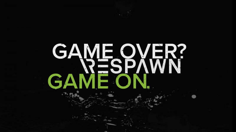Game Over, Respawn, Game On, Hardcore, Gamer quotes, Dark background, Wallpaper