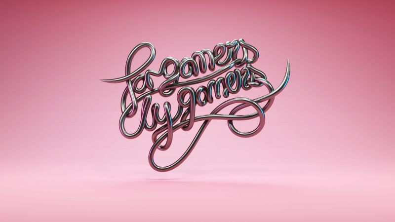 For Gamers By Gamers, Razer, Gamer quotes, Pink, Typography, Wallpaper