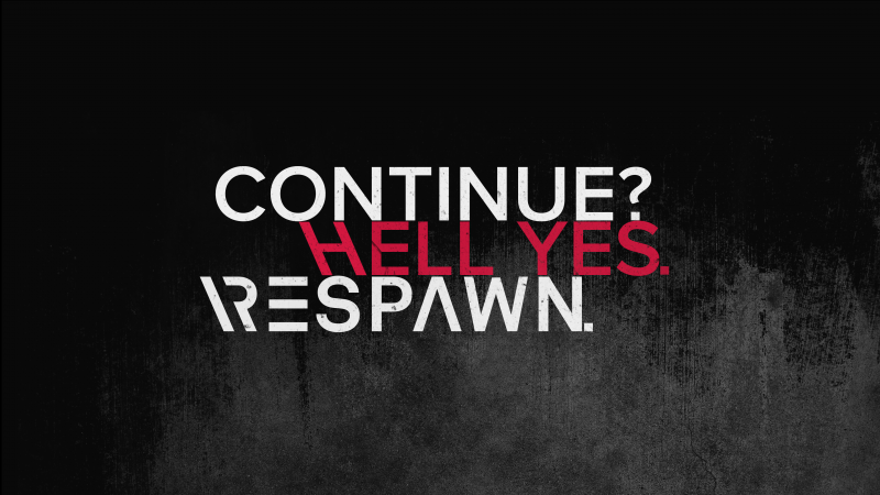 Respawn, Continue, Hell yes, Gamer, Hardcore, Gamer quotes, Dark background, Wallpaper