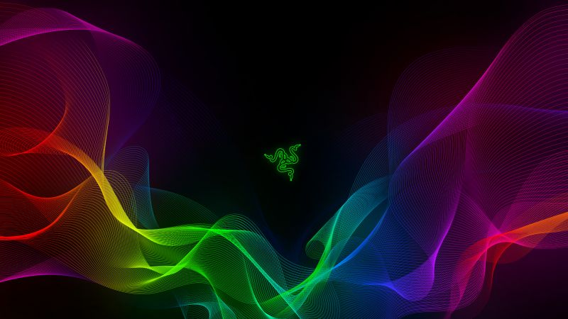 Waves, Razer, Colorful, Spectrum, Neon, Wallpaper