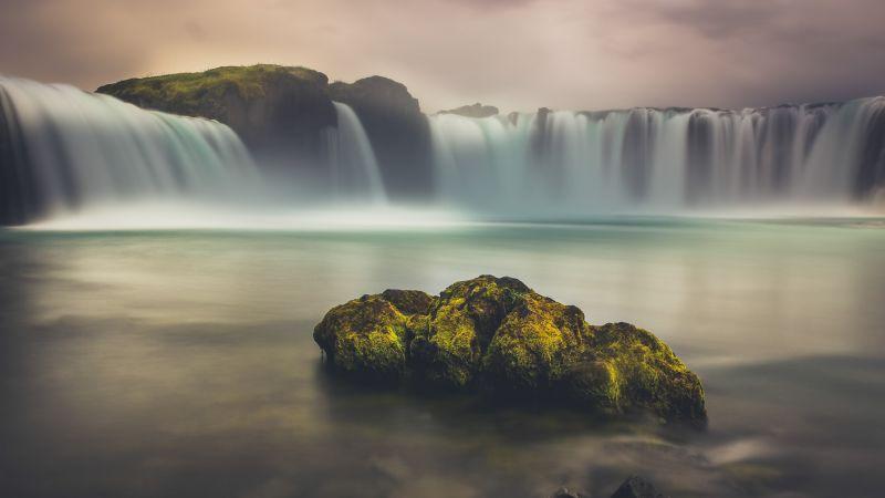 Goðafoss, Waterfall, Iceland, Scenic, Landscape, Wallpaper