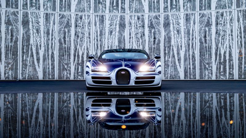 Bugatti Veyron Grand Sport Roadster, Hyper Sports Cars, 5K, Wallpaper