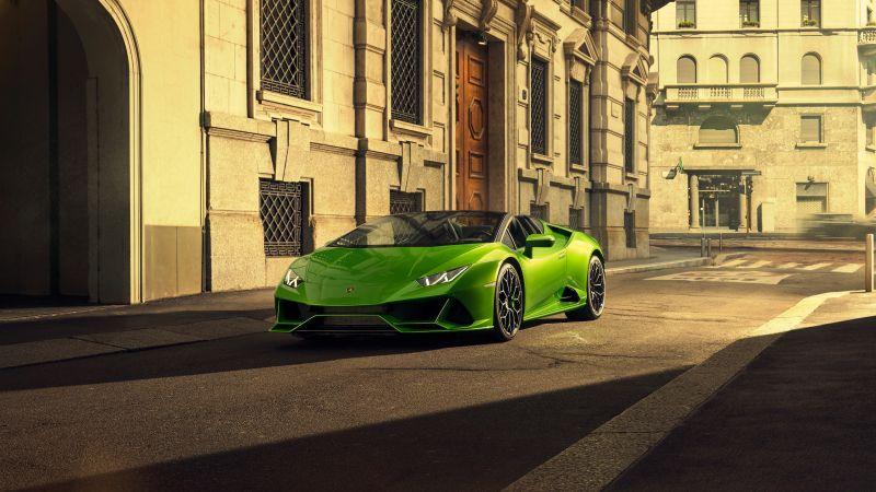 Lamborghini Huracan EVO Spyder, 2020, Wallpaper