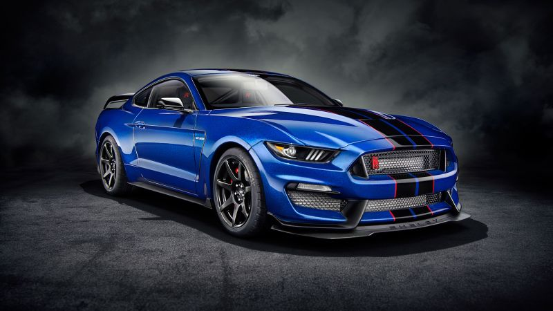 Ford Mustang Shelby GT350, Sports cars, 5K, Dark background, Wallpaper
