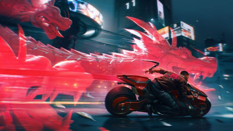 Cyberpunk 2077, Dragon Boat Festival, Illustration, Wallpaper