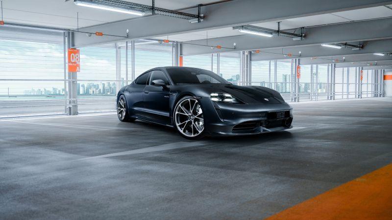 Porsche Taycan Turbo, TechArt, 2020, Wallpaper