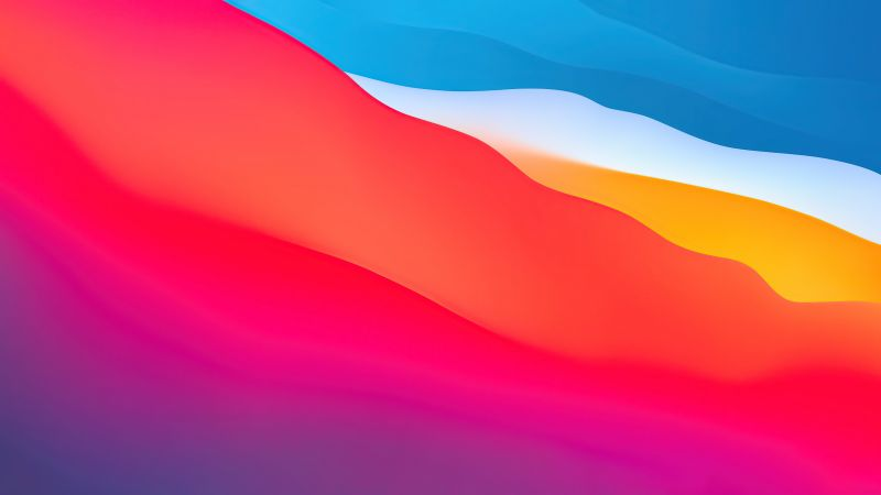 macOS Big Sur, Apple, Layers, Fluidic, Colorful, WWDC, Stock, Aesthetic, 2020, Wallpaper