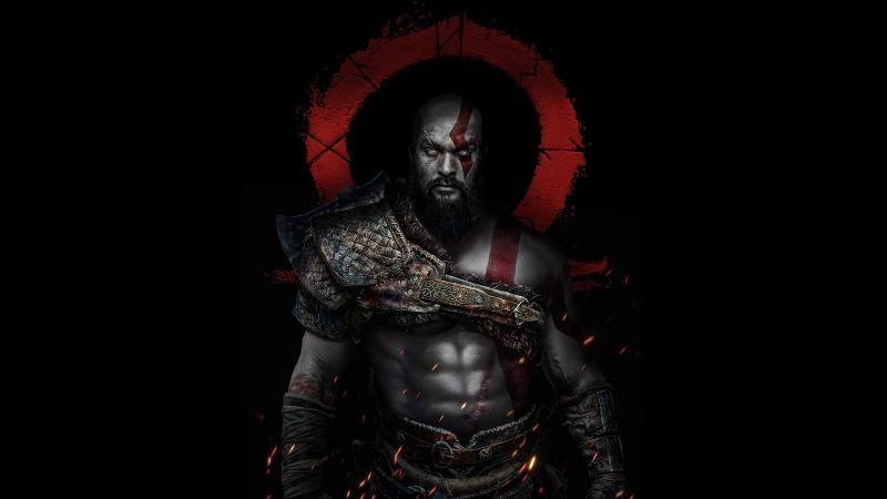 Kratos, Jason Momoa, God of War, Dark, Wallpaper