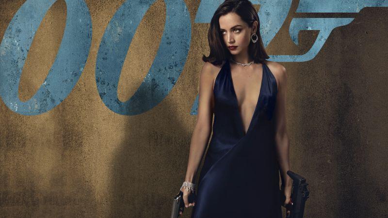 No Time to Die, Ana de Armas, 2020 Movies, Wallpaper