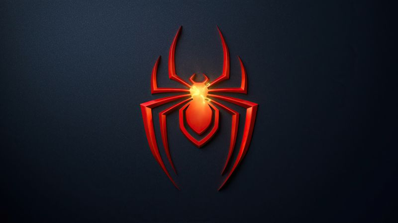Spider-Man: Miles Morales, PlayStation 5, Dark background, 2020 Games, Wallpaper