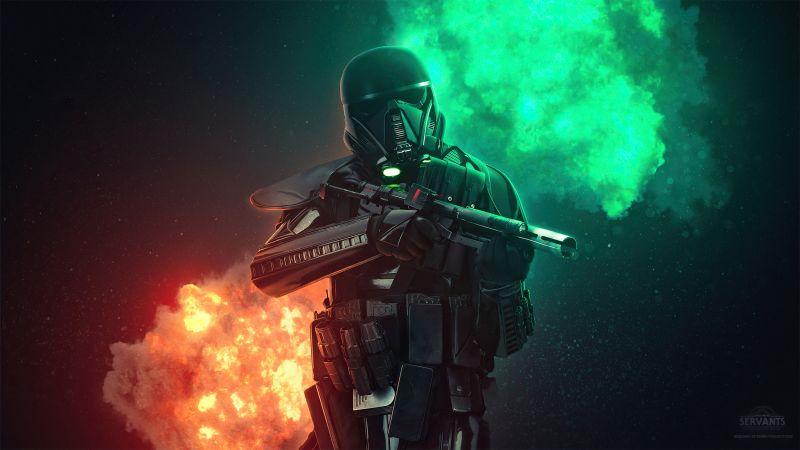 Stormtrooper, Star Wars, Neon, Wallpaper