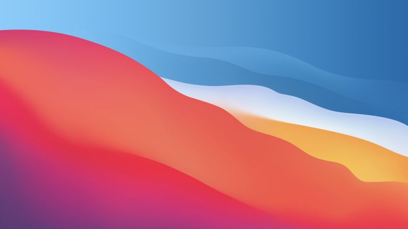 macOS Big Sur, Colorful, Waves, Smooth, Stock, Apple, Aesthetic, 5K, Wallpaper