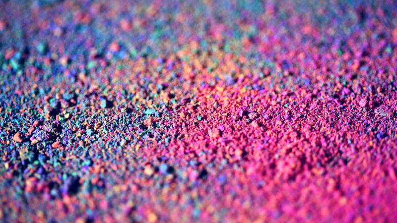 Chalk dust, Colorful, Bokeh, Macro, 5K, Wallpaper