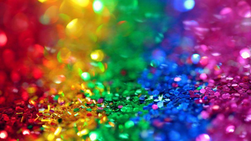 Glitter, Colorful, Multicolor, Bokeh, Assorted, Sequins, 5K, Wallpaper