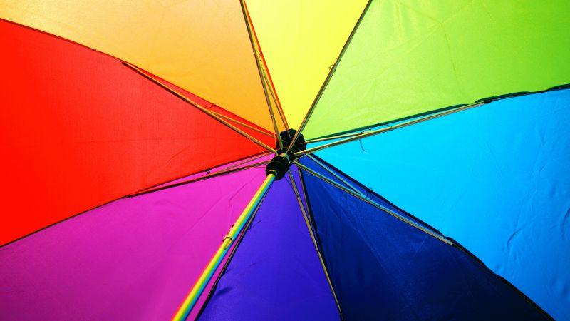 Umbrella, Colorful, Multicolor, 5K, Wallpaper