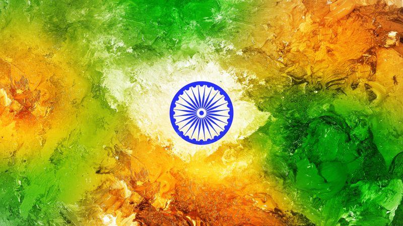 Indian Flag, Tricolour Flag, National flag, Flag of India, 5K, Wallpaper