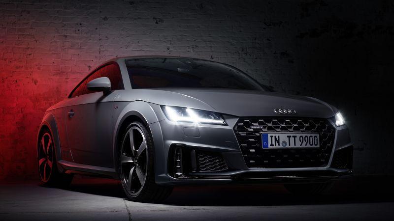 Audi TT 45 TFSI quattro S line, Quantum Gray Edition, Dark, Wallpaper