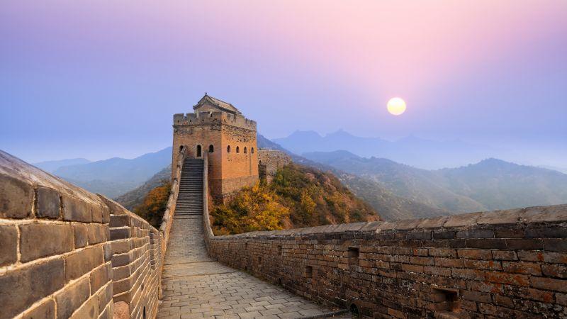 Great Wall of China, Jinshanling, Sunrise, 5K, Wallpaper