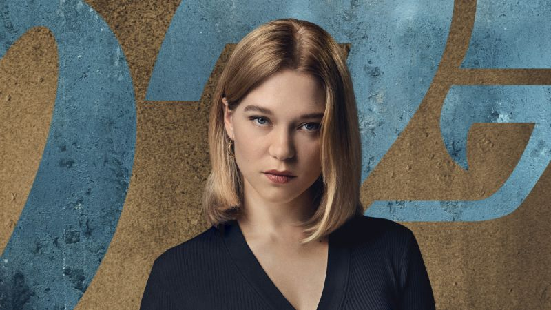 Lea Seydoux, No Time to Die, 2020 Movies, Wallpaper