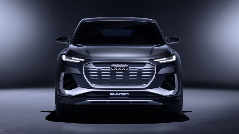 Audi Q4 Sportback e-tron, Electric SUV, Concept cars, 2020, 5K, Wallpaper