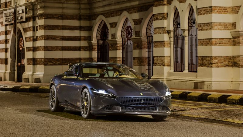 Ferrari Roma, Sports cars, 2020, 5K, Wallpaper