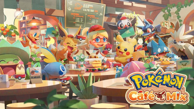 Pokémon Café Mix, 2020 Games, Android games, 5K, 8K, Wallpaper