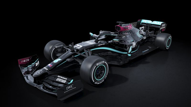 Mercedes-AMG F1 W11 EQ Performance, 2020, F1 Cars, Electric Race Cars, Dark background, Wallpaper
