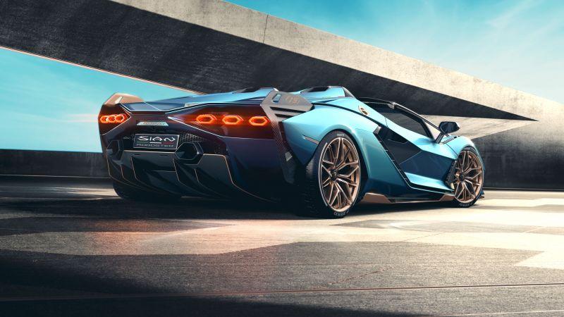 Lamborghini Sián Roadster, Supercars, 2020, 5K, 8K, Wallpaper