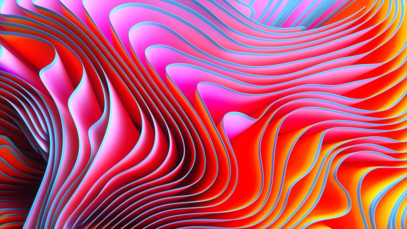 Twirls, Colorful, Spectrum, Pink abstract, Wallpaper