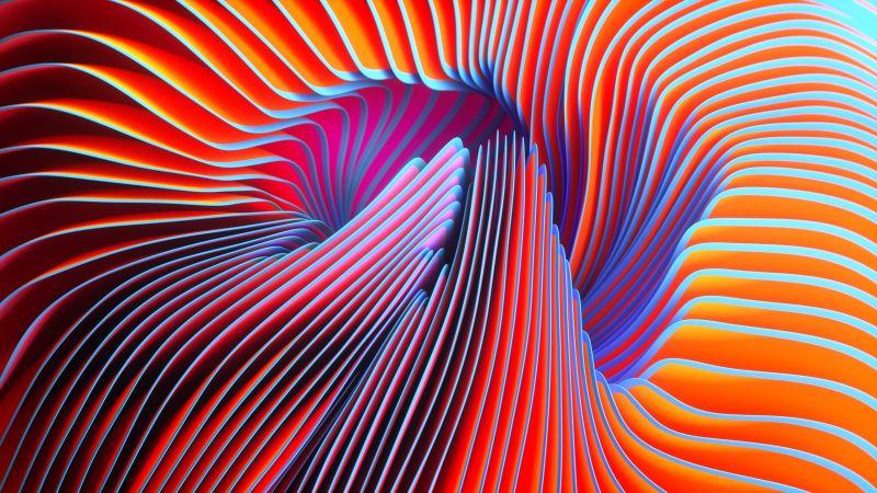 Twirls, Colorful, Spectrum, Orange, Wallpaper