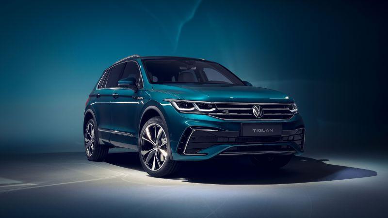 Volkswagen Tiguan R-Line, 2020, 5K, 8K, Wallpaper