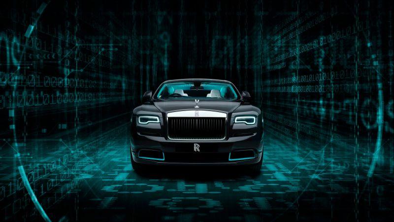 Rolls-Royce Wraith Kryptos Collection, 2020, 5K, 8K, Dark background, Wallpaper