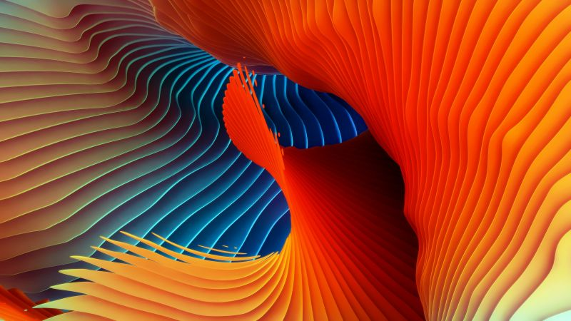 Spectrum, Spiral, Colorful, Symmetric, Rhythm, Red, HD, Wallpaper