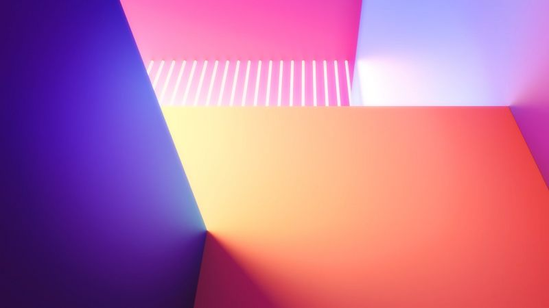 Colorful, Geometric, LG G8 ThinQ, Stock, Gradients, Aesthetic, Wallpaper